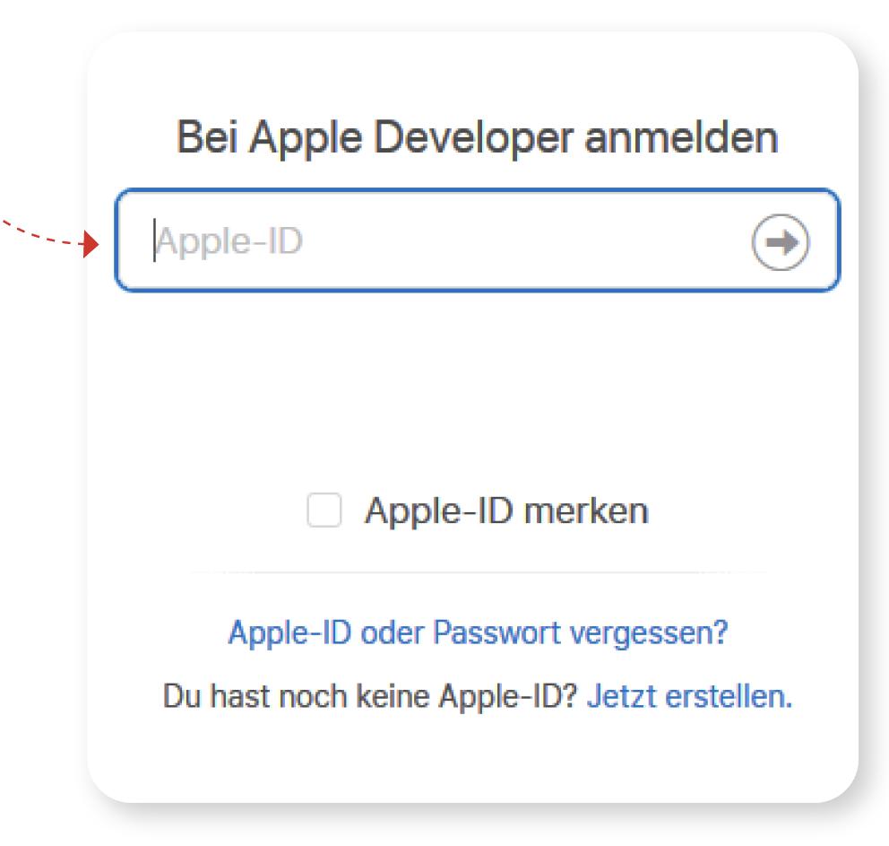 bei apple developer anmelden